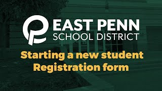 Starting a New Student Registration