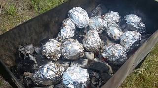Сало и печёная картошка! Мировой закусон)))