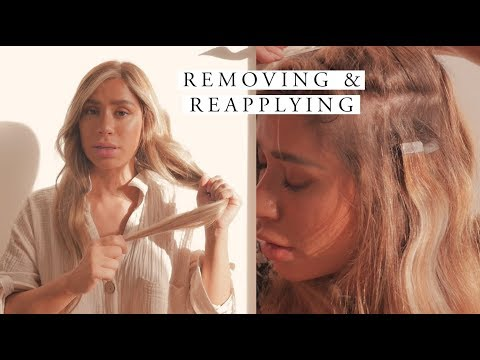 Remove & Reapply Tape In Hair Extensions