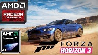 Forza Horizon 3 HD 7850 R7 265 R7 370 Phenom II X4 Medium