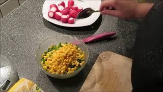 Германия/ Овощной салат с яйцом и сыром/Не удержалась.../Часть 2