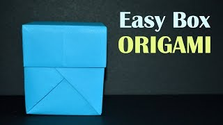 How to Make a Paper Box - EASY Origami Gift Box with Lid