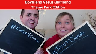 Mr and Mrs Theme Park Edition Quiz | Boyfriend Versus Girlfriend - keep watching for the tie breaker