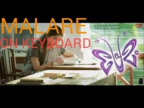 Malare song from premam film on keyboard