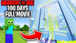 I Survived 100 Days In A Hardcore Minecraft Zombie Apocalypse And This Is What Happened - Skyes