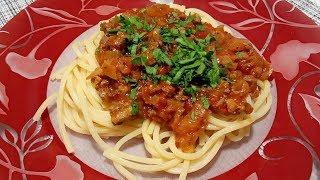 Спагетти болоньезе. Очень простой рецепт.
