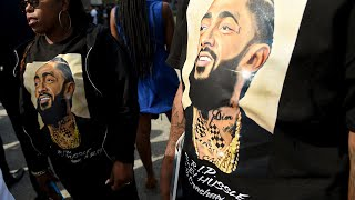 Nipsey Hussle's family and friends gathered Friday for a private funeral on a day when the slain rapper was also honored by his hometown of Los Angeles.