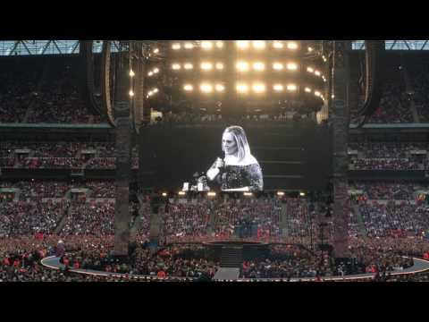 """ADELE - """"I have never been so F*CKING scared!!!"""" - Wembley 28-06-17"""
