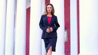 Трикотажный Костюм Алета с юбкой Деловой стиль Модные тенденции Женская одежда видеообзор