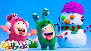 ODDBODS | Building The Last Snowman | Cartoons For Kids