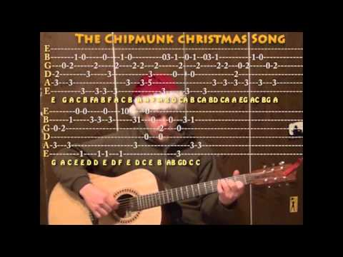 Christmas Don't Be Late  (Chipmunk Song) Solo Guitar Cover Lesson with TAB Arrangement