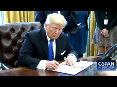 President Trump Signs Executive Order On Keystone Pipeline