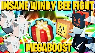 INSANE Windy Bee FIght And MEGABOOST on Test Servers In Roblox Bee Swarm Simulator