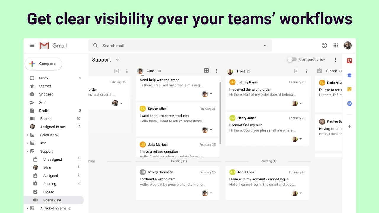 Get clear visibility over your teams' workflows