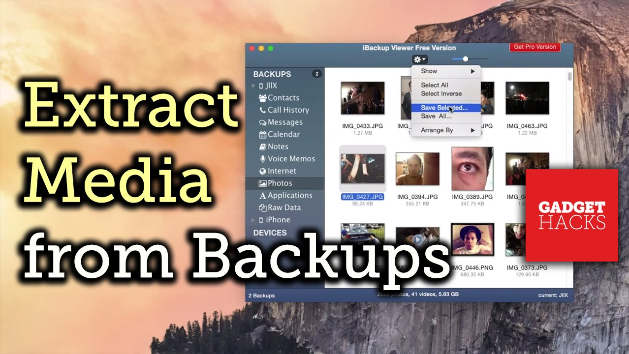 Iphone extract backup photos from