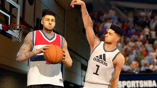 NBA LIVE 16! HITTING UP THE PARK WITH MY CREATED PLAYER!!