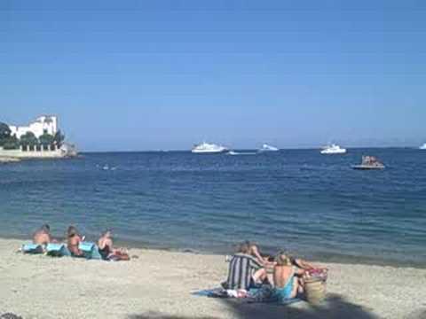 Beach Scene at Cap St Jean Ferat