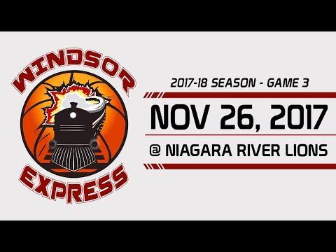 Windsor Express HIGHLIGHTS vs. Niagara - 11/26/17