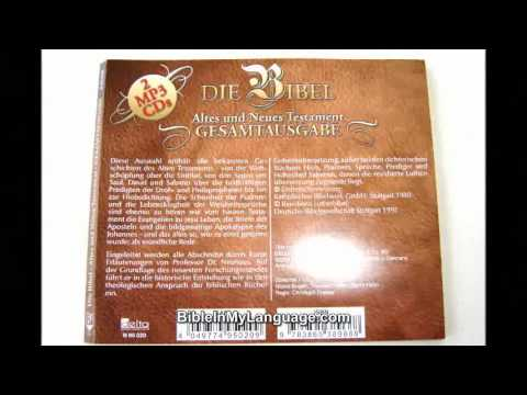 German Bible Reading selections on 2 MP3 Discs Old and New Testament / Die Bibel