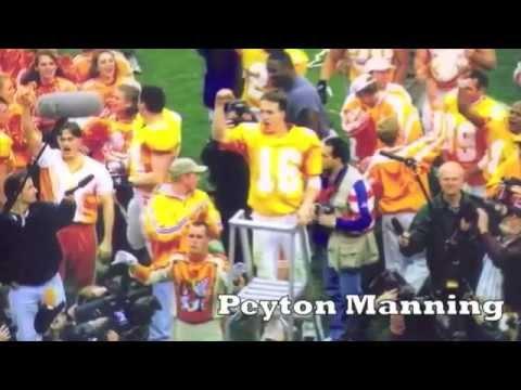 Vols Jersey Countdown No. 16 featuring Peyton Manning, Dewey Warren, Sterling Henton