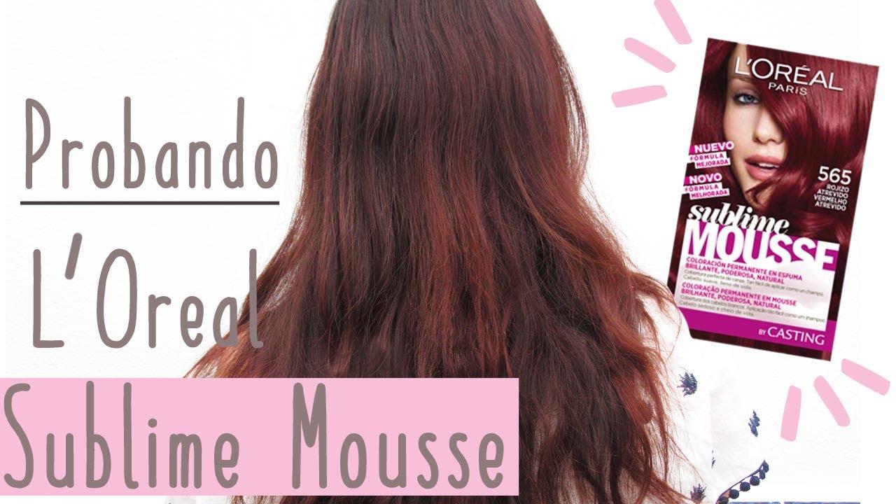 b4f1f29b454ef8 Probando L'Oreal Sublime Mousse 565 Rojo Atrevido - YouTube