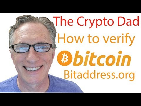 How To Verify A Bitcoin Address Generated By Bitaddress.org