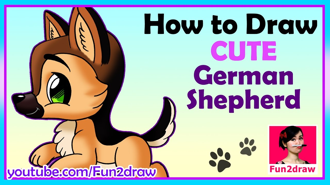 How To Draw A Dog Draw Easy Draw Cute Mei Yu Youtube