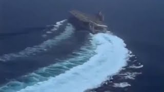 CVN-75 USS Harry S. Truman High Speed Turn