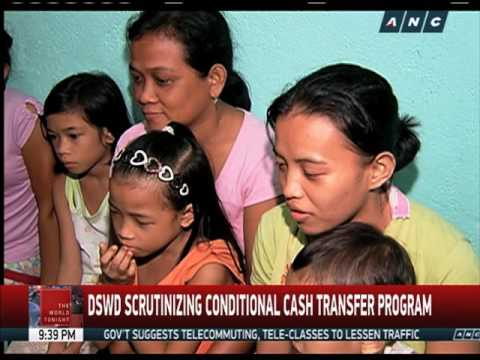 DSWD looking into conditional cash transfer program