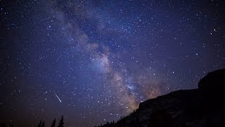4K 2015 Perseid Meteor Shower, Yosemite National Park. UHD