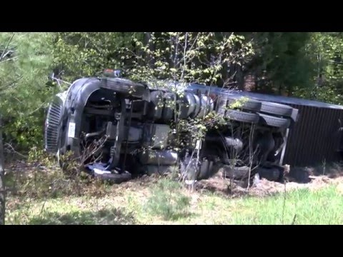 18-Wheeler Transporting Gas Canisters Rolls Over in Georges Mills - YCN News 5.18.16