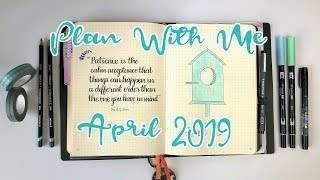 PLAN WITH ME | Bullet Journal | April 2019
