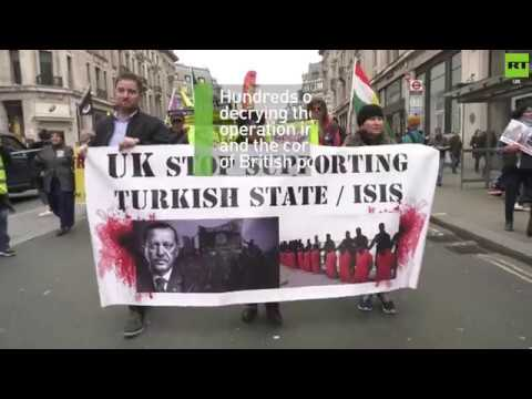 Hundreds protest British media's coverage of Afrin