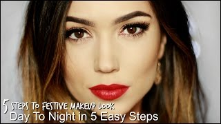 5 Step Makeup Tutorial | Holiday Makeup Edition