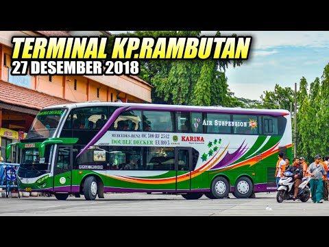 SPESIAL LIBURAN   Aktifitas Sore Hari di Terminal Bus Kampung Rambutan 27 Desember 2018 Mp3