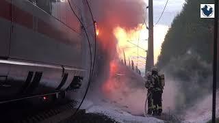 ICE brennt bei Dierdorf