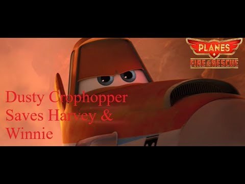 Planes: Fire & Rescue - Dusty Crophopper Saves Harvey and Winnie (2014  Movie Scene)