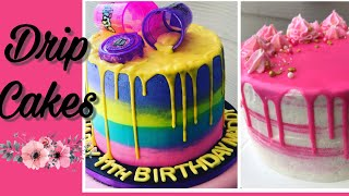 Slime CakePink Drip Cake  Decorate With Me  IHeartKake