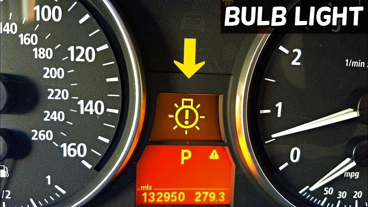 BMW BULB WARNING LIGHT E90 E91 E92  HOW TO KNOW WHICH BULB IS BAD