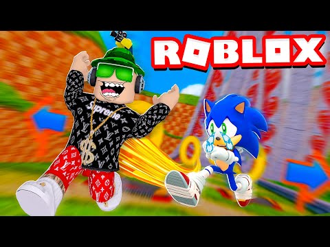 I AM FASTER THAN SONIC In ROBLOX SPEED SIMULATOR X