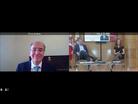 Cirus Andreu, subdirector general de Sabadell Herrero, en el Club de Prensa de Diario de León 2021