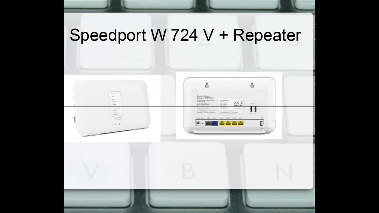 tutorial speedport w 724 v repeater youtube. Black Bedroom Furniture Sets. Home Design Ideas