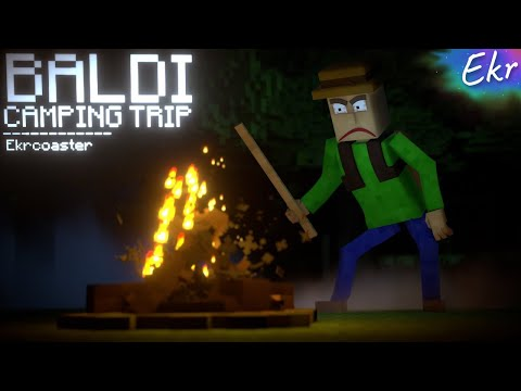 BALDI CAMPING! | Baldi's Basics Minecraft Animation (Random Encounters)