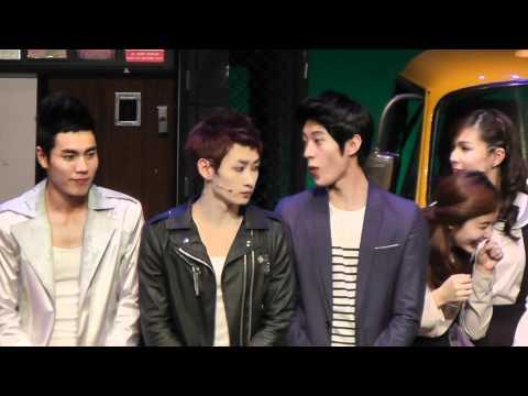 [fancam]20120129 Eunhyuk,Tiffany FAME Musical Curtain Call full ver.