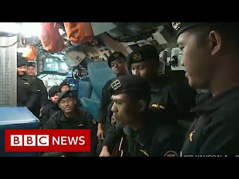Indonesian navy submarine: Video shows crew singing - BBC News