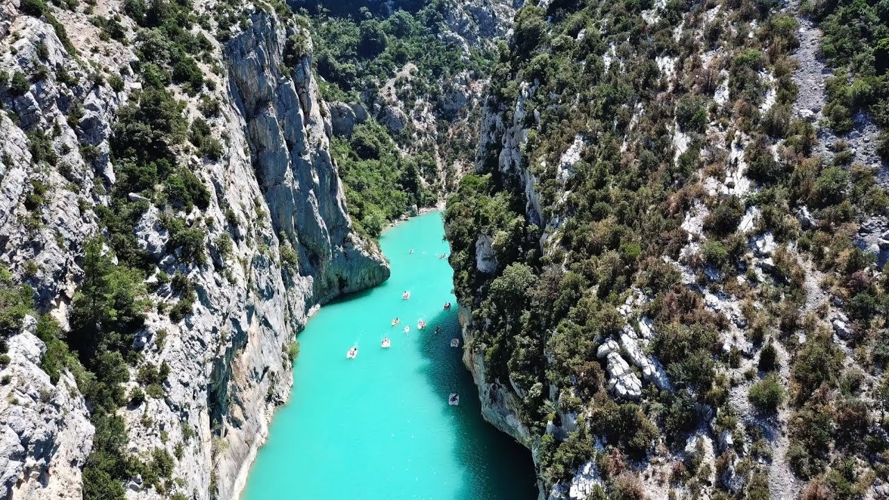 The most beautiful Canyon in Europe - Gorges du Verdon, France - YouTube
