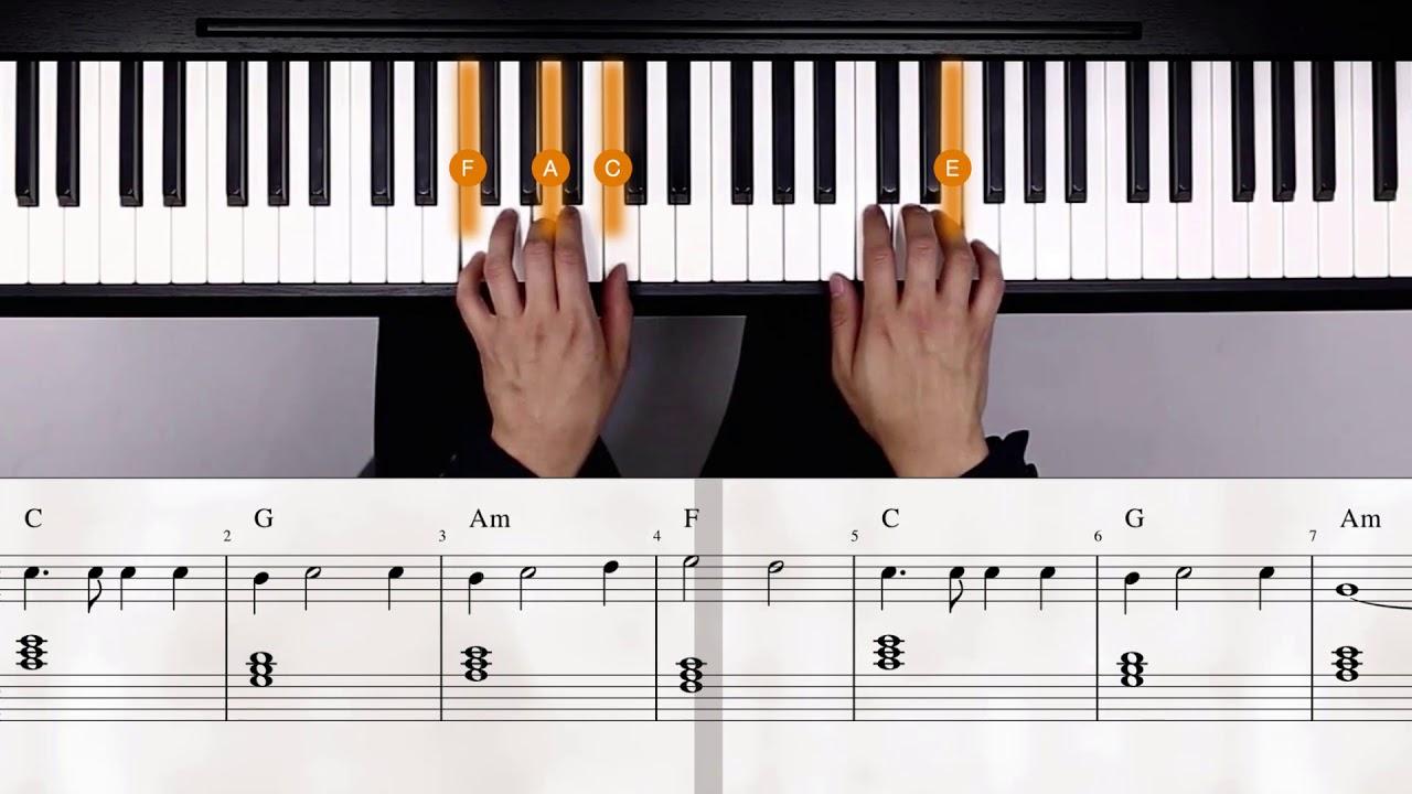 c-dur akkord klavier
