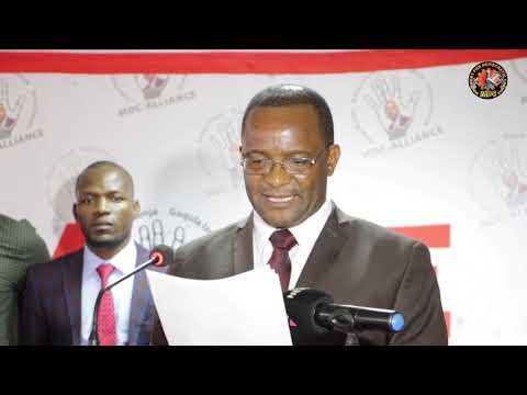 MDC leadership briefs the media on the recent political and economic developments in Zimbabwe