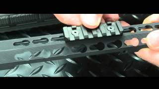 Dual Interface Keymod/Mlok Rail Section