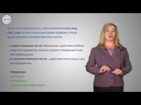 Русский язык. 4 класс. Понятие о спряжении глагола  Личные окончания глаголов 1 и 2 спряжения